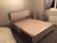 SWAP kingsize crushed velvet bed