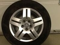 15INCH 5/100 VW GOLF GT ALLOY WHEELS WITH TYRES FIT MOST MODELS NO TEXTS PLEASE