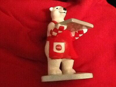 Coca Cola Baker Bear In Apron With Tray Of Cookies Vintage