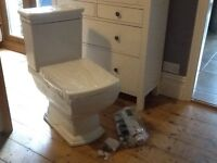 Brand new toilet from Victoria Plumb
