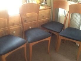 4 Italian teak dinning chairs