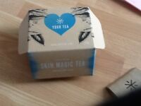 Your tea skin magic tea bags box contains 58 tea bags
