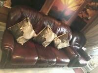 3 peice leather suite