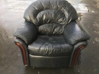Black leather recliner armchair free free free