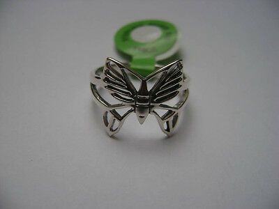 Sterling Silver Butterfly Cut Out Design Ring New Cut Out Butterfly Ring
