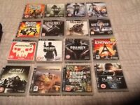 PS3 & PS2 bag of games
