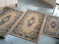 Set of 3 runner width used rugs150cm x80cm(x2)& 110cm x60cm(X1)-vacuumed and cleaned-all 3 for £30