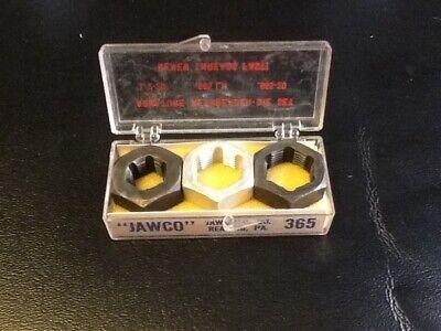 JAWCO #365 Armature Hex Rethreader-Die Set 1/2-20 & .655-20 & .665LH...NOS Hex Rethreading Die Set