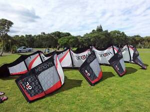 Full Kiteboarding Gear with 13,11,9,7^m HadlowPRO Brisbane North West Preview