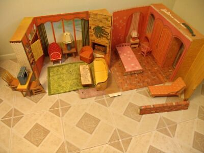 Vintage original 1960`s New Barbie Dream House used condition played with