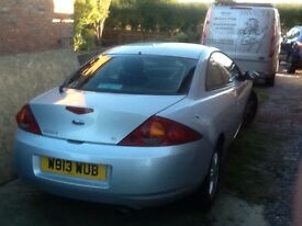Ford cougar in silver for breaking / repairing. 2.5v6