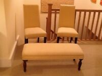 Footstool and 2 matching chairs