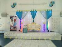 Venue styling*Hall Decoration*Hire Service*Chaircover*Wedding love sofa*Throne Chairs *