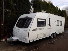 Coachman Laser 650 4 berth caravan Twin Axle, FIXED ISLAND BED, MOTOR MOVER !