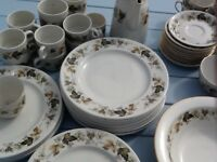 Royal Doulton . Selection of Larchment crockery