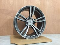 19″ Staggered M5 F10 Style alloy Wheels – Gun Metal / Machined Face BMW 5X120