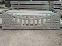 Fancy gravel board concrete topper fencing