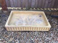 Old Glazed Sink Garden Planter