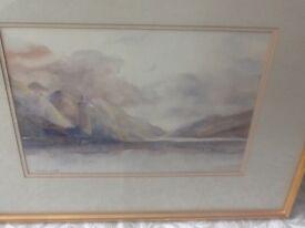 Watercolour, signed by artist, Irish scene