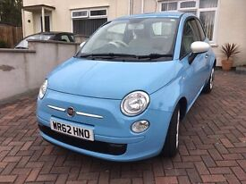 FIAT 500 COLOUR THERAPY {START/STOP} [2013] LOW MILEAGE {ONE OWNER} £30 A YEAR TAX.{ MOT JANUARY