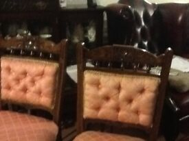 Beautiful chairs covered in top qualitybrocade