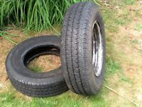Wheel Rim & Tyres for LDV / DAF 185R14C rim in sound condition & tyre 5mm tread. Useful as a spare