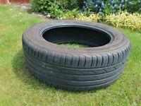 17 inch 215/55 Bridgestone Tyre Part Worn with 5-6mm tread