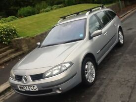 2007 RENAULT LAGUNA 1.9 DCI DYNAMIQUE 130 ESTATE WITH LEATHER AND 12 MONTHS WARRANTY