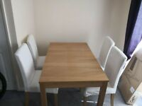 Ikea Table and 4 Chairs 390 RRP