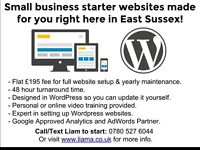 Starter websites made for just £195 right here in East Sussex!