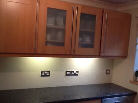 Kitchen cupboards and units.