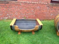 Oak Whisky Barrel Dog Bed