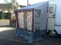SALOU PORCH AWNING , AS NEW , MADE BY BRADCOT,