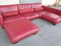DFS California Sectional Sofa - Corner sofa - Red Leather