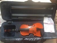 3/4 size Stentor Conservatoire violin, with bow and case