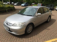 55 PLATE HONDA CIVIC EXECUTIVE IMA 1.3cc HYBRID MANUAL, 12 MONTHS MOT, ONE OWNER, £20 TAX, ONLY 53K