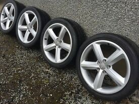 "Genuine Audi A4 18"" s line alloy wheels"