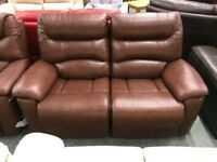 3 x 2 seater leather manual recliner sofas available