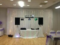 Chair Cover and Backdrop Package £250