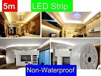 LED LIGHTS DIY INTERIOR DECORATION 5M LIGHT STRIPS 300 BULBS FLEXIBLE FOR HOME AND CAR DECORATION