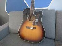 """Epiphone """"Masterbilt"""" DR-500MCE electro acoustic guitar (Vintage Sunburst) RRP £449+"""