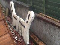 Paintable concrete bench ends