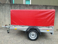 CAR CAMPING BOX TRAILER 6.8FT X 3.8FT + TOP COVER 80CM 750KG UNBRAKED