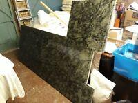 30mm Verda Marataka Polished Granite kitchen worktop (Green/Black mottled