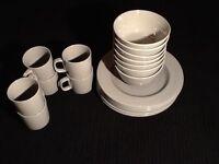 Modern stylish M&S STONEWARE, BROOKLYN, dinner set. Beautiful mid grey colour £50 for the set.