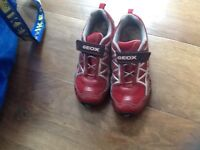 Boys GEOX red trainers size 1
