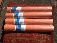 4x rolls Italian design heavyweight FSC vinyl burgundy wallpaper