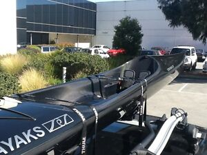 Flow Superstar Carbon Kevlar Ocean Racing Surf Ski Kayak Paddle Elwood Port Phillip Preview