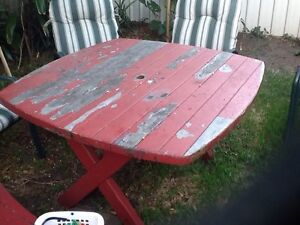 Free wooden garden table. Islington Newcastle Area Preview