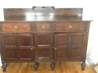 Sideboard, solid oak 1930's
